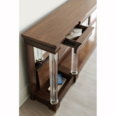 A Clear Perspective Console Table Caracole A Clear Perspective Console Table