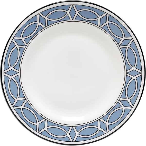 Loop Cornflower Blue & White Teaplate Outer Design