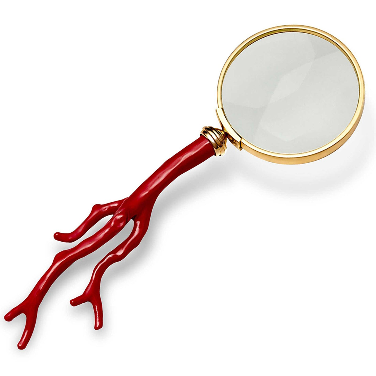 Coral Magnifying Glass