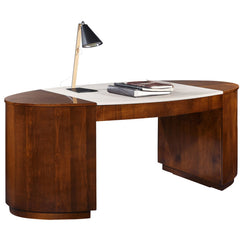Downtown Leather Top Desk Selva Downtown Leather Top Desk