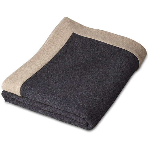 Etra Cashmere Throw - Taupe/Charcoal