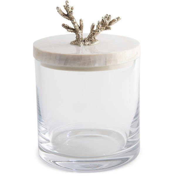 Glass Jar with Lid Objet Luxe Coral