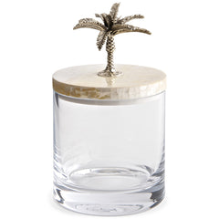 Glass Jar with Lid Objet Luxe Palm Tree