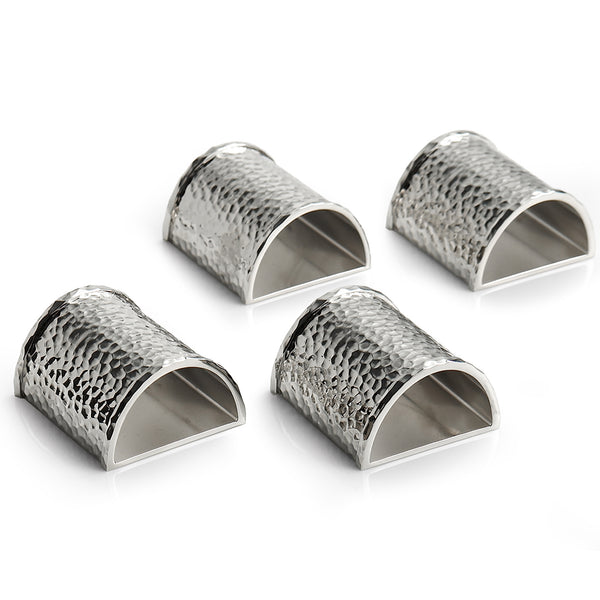 Set of 4 Hammertone Napkin Rings Michael Aram Set of 4 Hammertone Napkin Rings