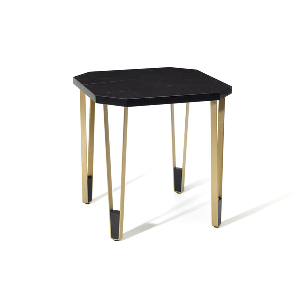 Ionic Side Table - Square - Nero Marquina Marble Insidherland Ionic Side Table - Square - Nero Marquina Marble