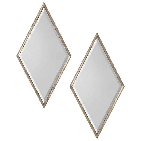 Set of Two Rhombus Mirrors