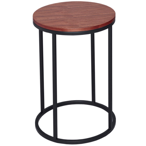 Kentish Round Side Table LuxDeco Black