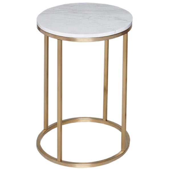 Kentish Round Side Table LuxDeco Gold