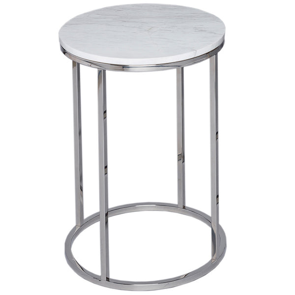 Kentish Round Side Table LuxDeco Silver