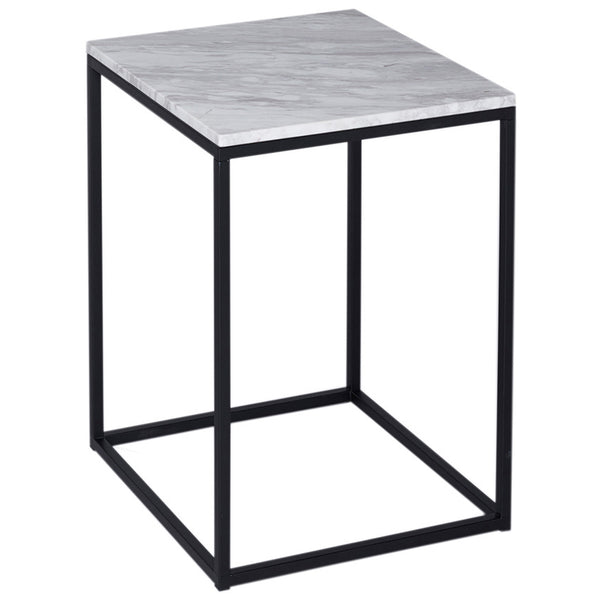 Kentish Square Side Table LuxDeco Black