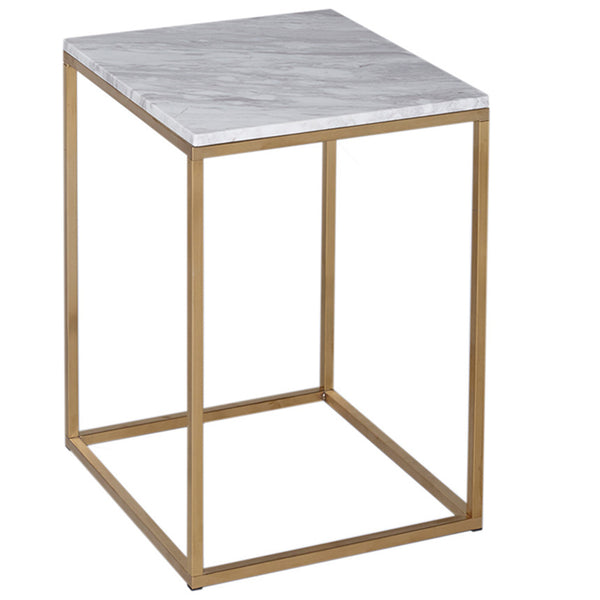 Kentish Square Side Table LuxDeco Gold