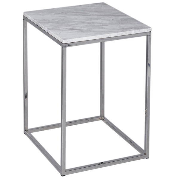 Kentish Square Side Table LuxDeco Silver