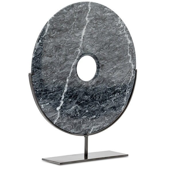 Large Marble Disc on Stand LuxDeco Large Marble Disc on Stand