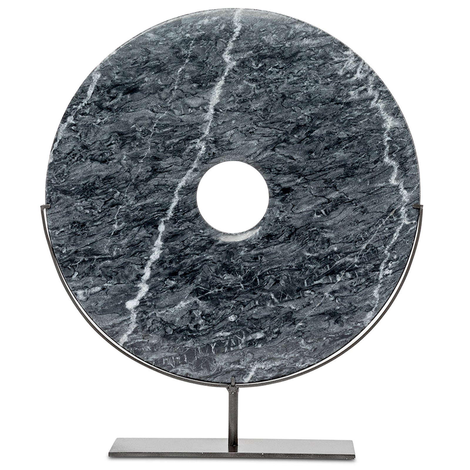 Large Marble Disc On Stand