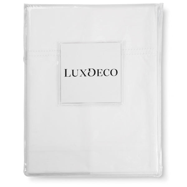 Banbury Double Hemstitch Duvet Cover Set LuxDeco Banbury Double Hemstitch Duvet Cover Set