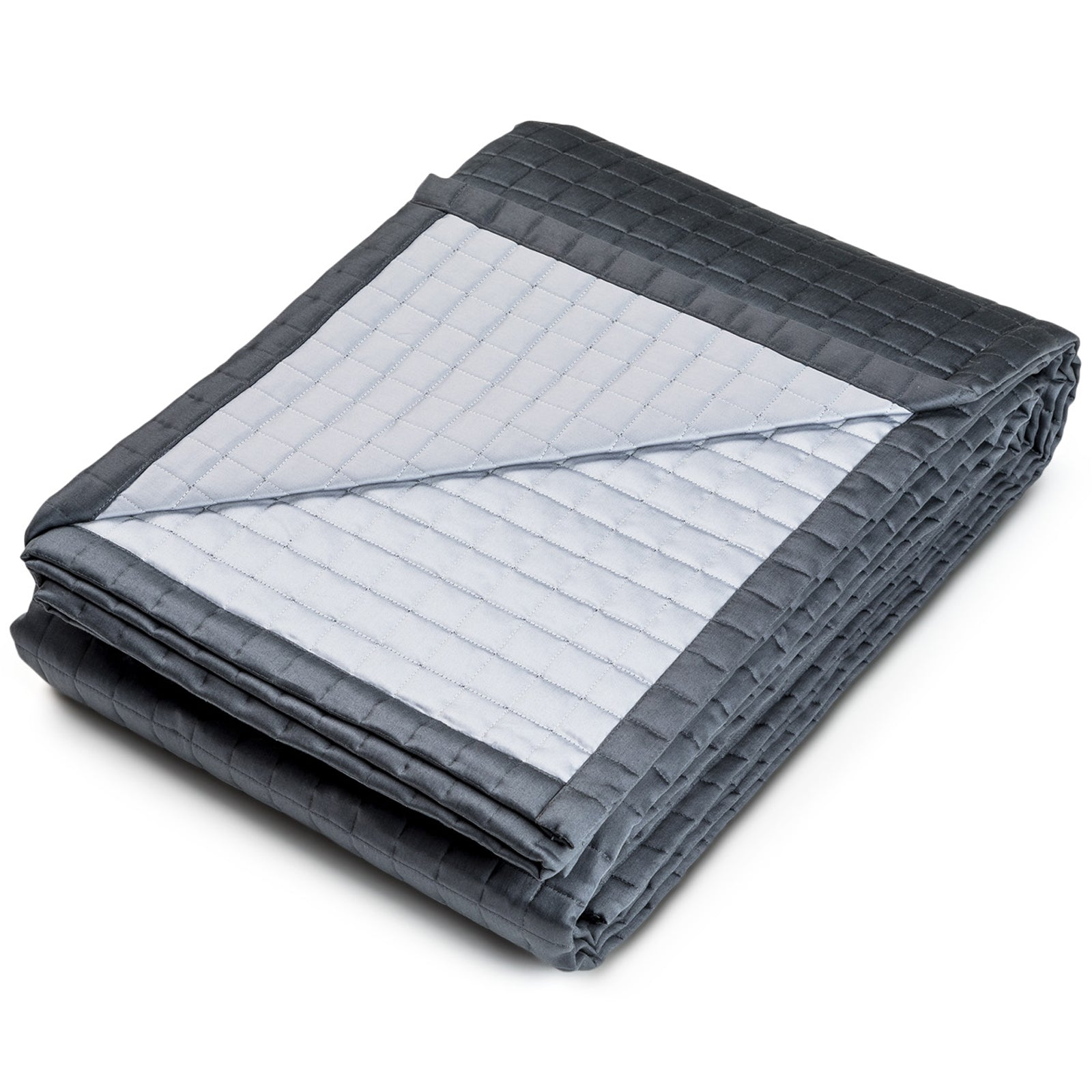 Hunter Quilted Bedspread Midnight by LuxDeco.com