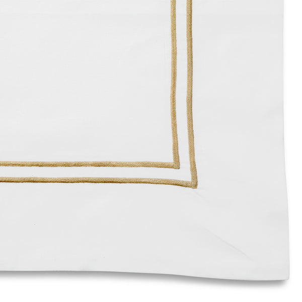 Draycott 2 Row Cord Square Pillowcase Maple LuxDeco Draycott 2 Row Cord Square Pillowcase Maple