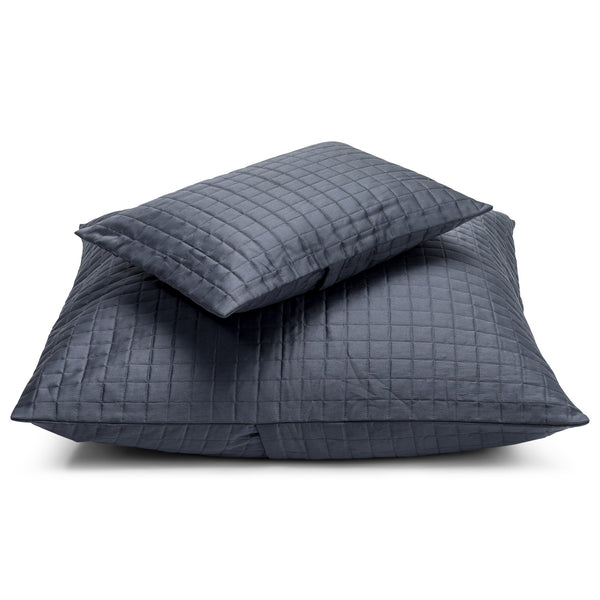 Hunter Quilted Breakfast Cushion Midnight LuxDeco Hunter Quilted Breakfast Cushion Midnight