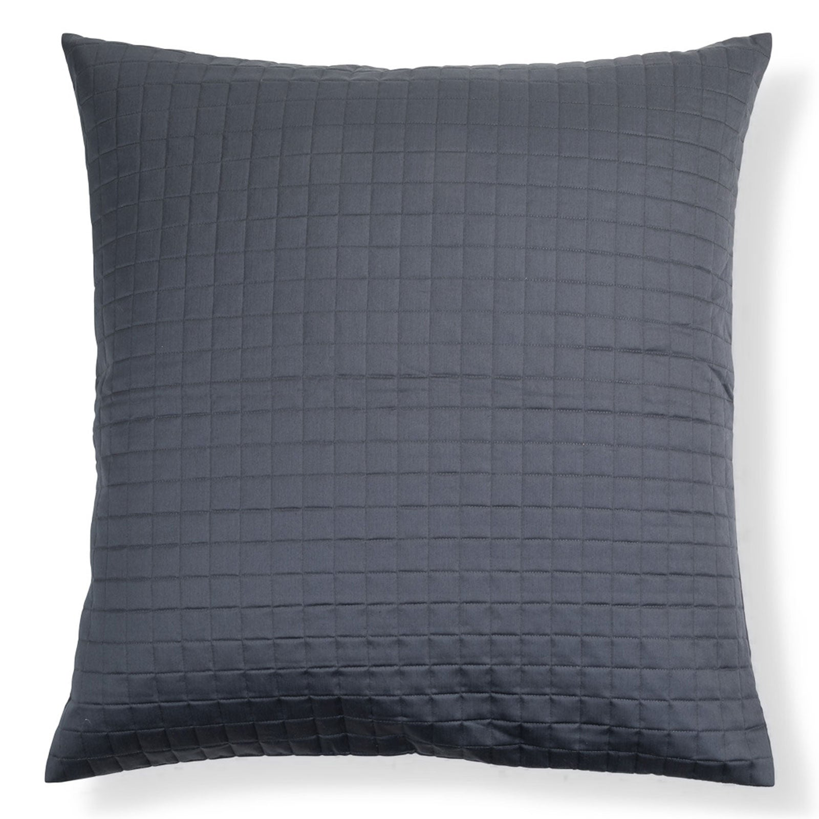 Hunter Quilted Square Pillowcase Midnight by LuxDeco.com