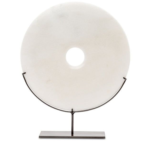 White Medium Marble Disc LuxDeco White Medium Marble Disc