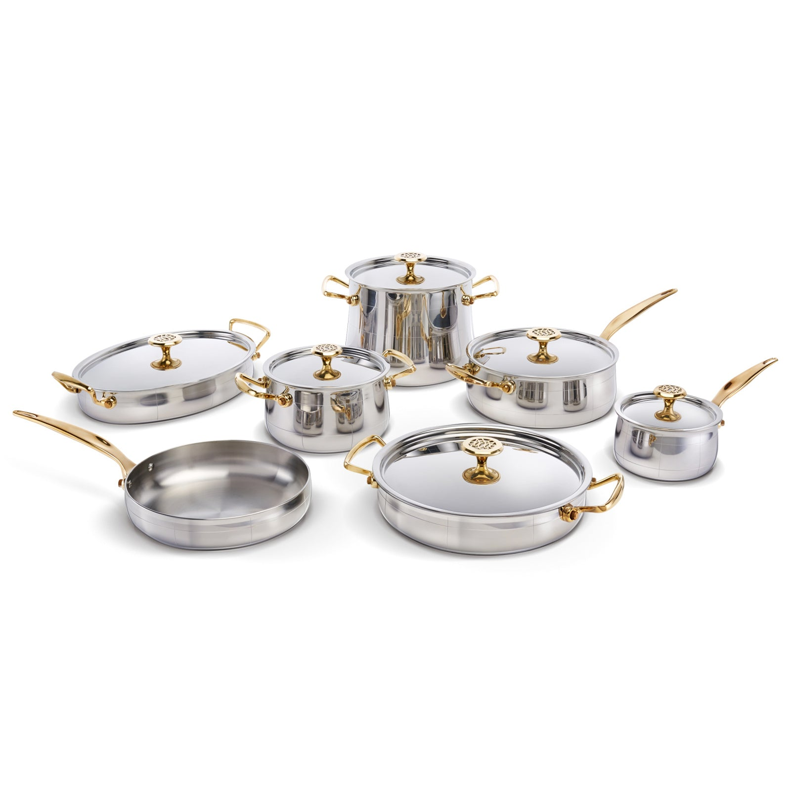 Platine Cookware Set by Ondine on LuxDeco.com