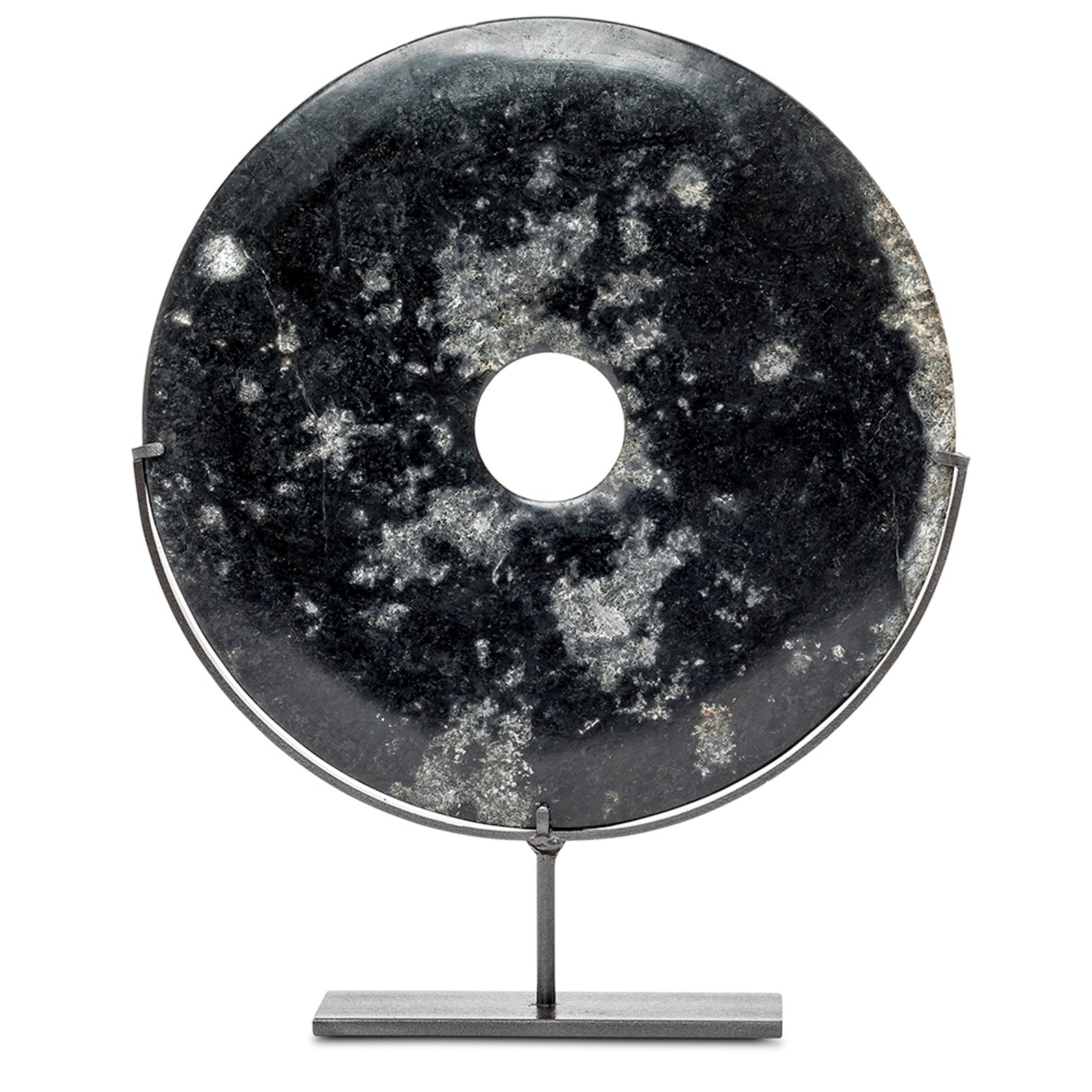 Medium Black Marble Disc