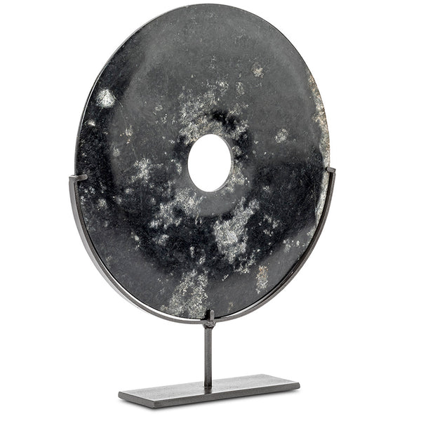 Medium Black Marble Disc LuxDeco Medium Black Marble Disc