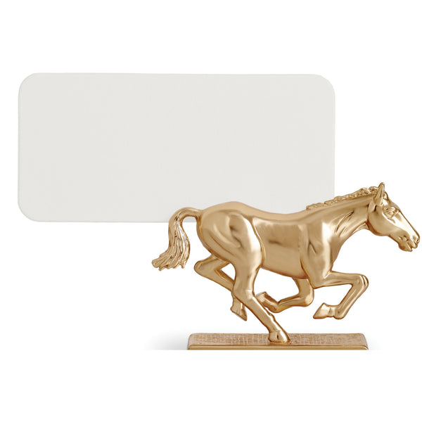 Set of 6 Gold Horse Place Card Holders