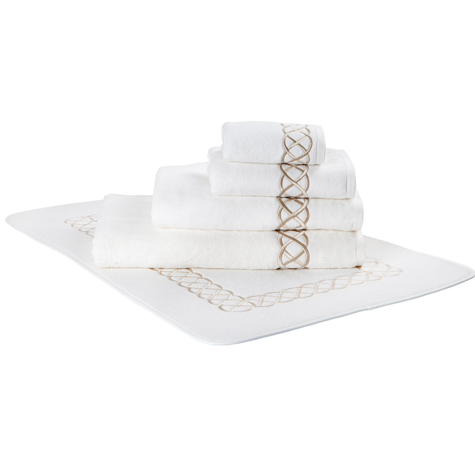 Pack Of 2 Pierre Loti Guest Towels - Sable