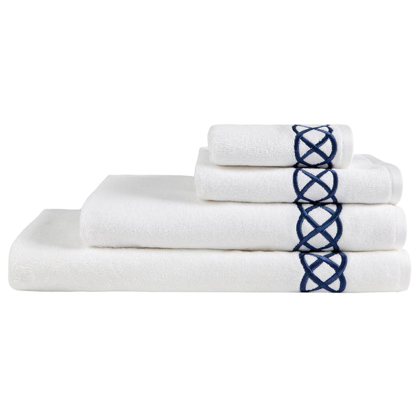 Pierre Loti Bath Towel - Dark Blue Haremlique Pierre Loti Bath Towel - Dark Blue