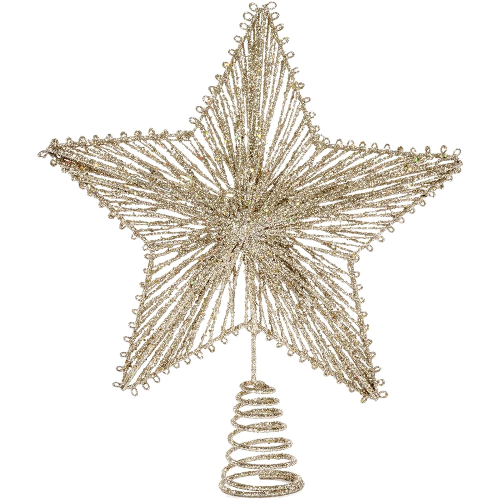 Champagne Star Tree Topper