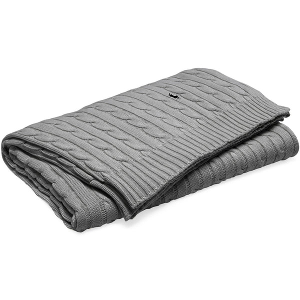 RL Cable Blanket Ralph Lauren Charcoal