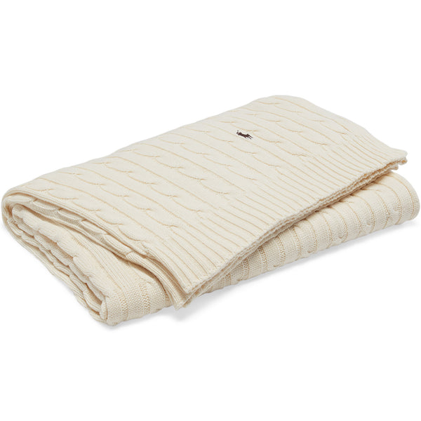 RL Cable Blanket Ralph Lauren Cream