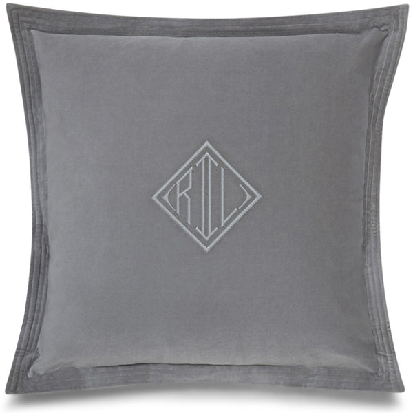 Grey RL Velvet Cushion