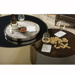 The Urbane Cocktail Lazy Susan Dining Table Caracole The Urbane Cocktail Lazy Susan Dining Table