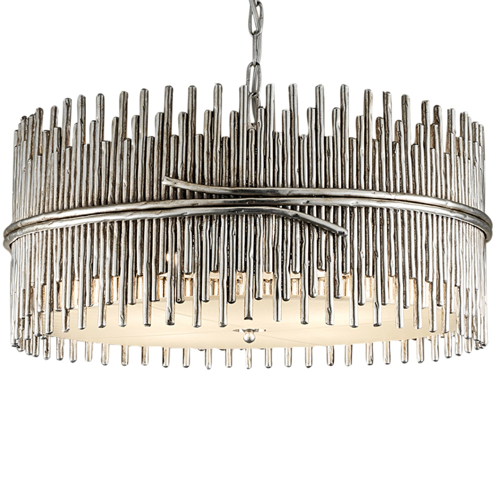 Silver Sculpture Chandelier