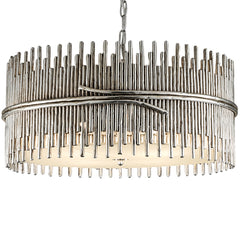 Silver Sculpture Chandelier LuxDeco Silver Sculpture Chandelier