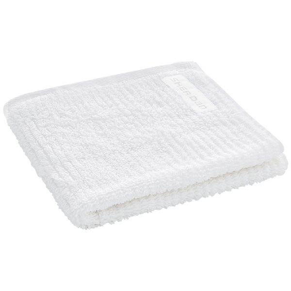Living Textures Wash Cloth - White Sheridan Living Textures Wash Cloth - White