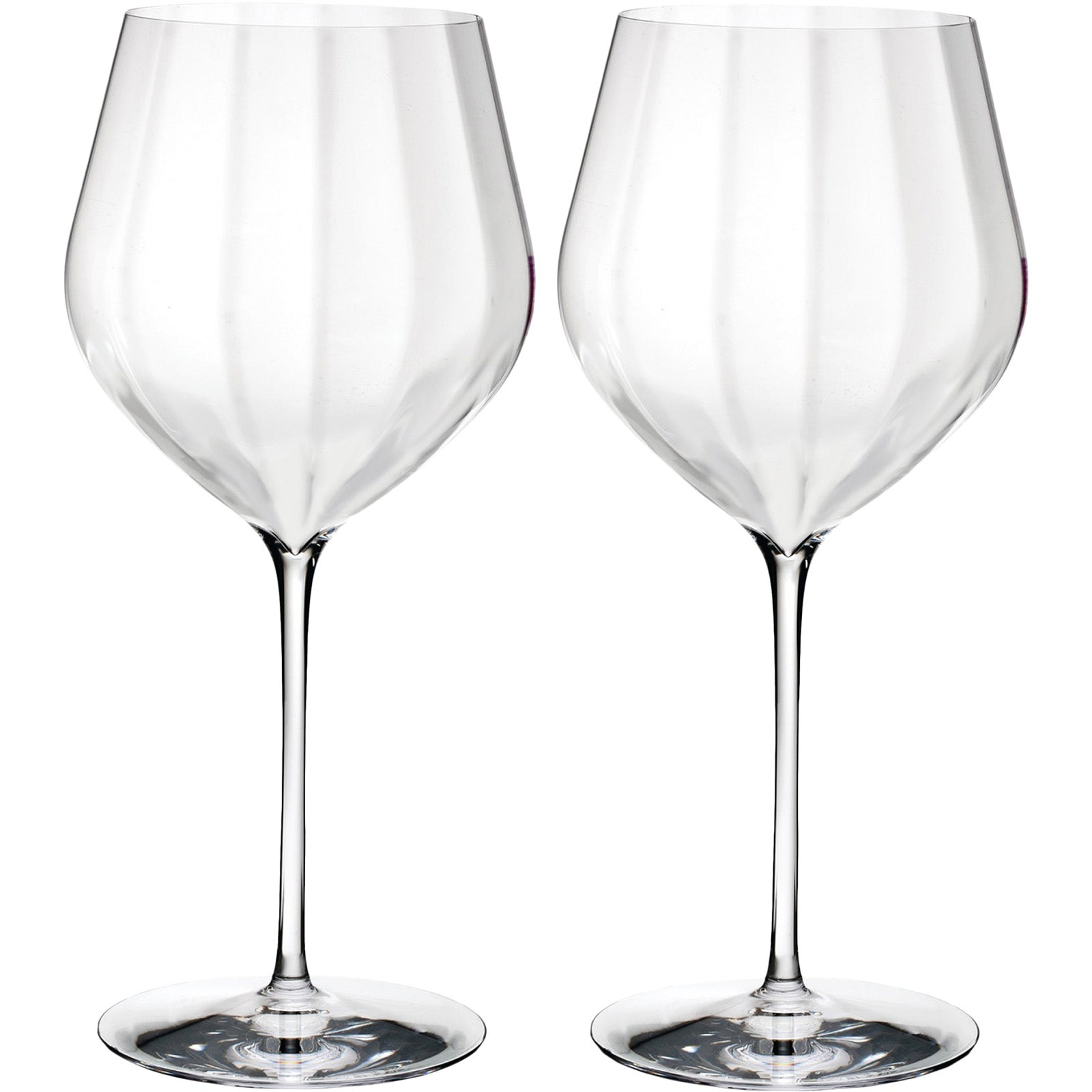 Set of 2 Elegance Optic Red Wine Glass