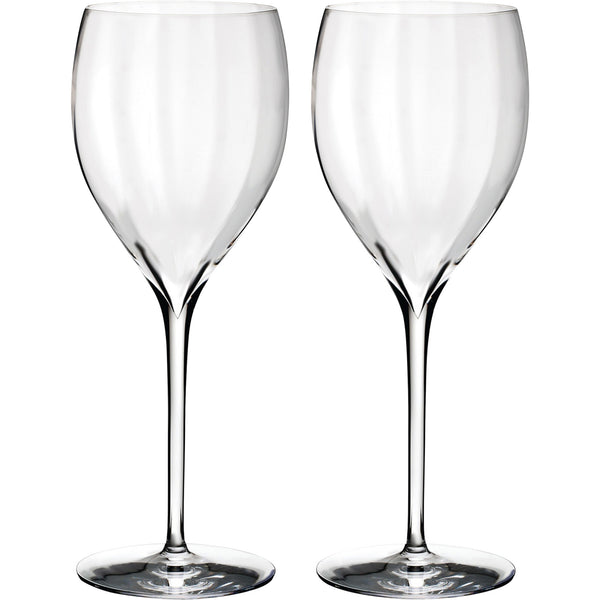 Set of 2 Elegance Optic White Wine Glasses Waterford Set of 2 Elegance Optic White Wine Glasses