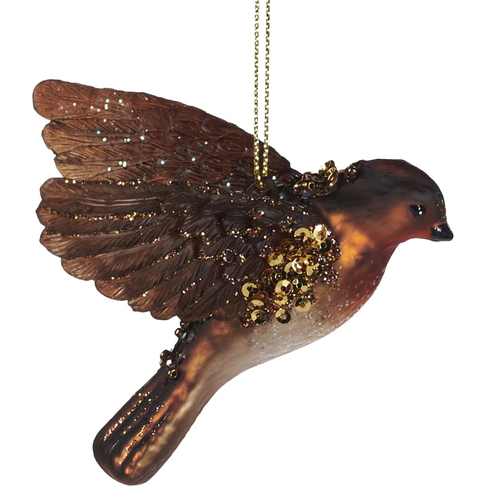 Flying Robin Bauble by LuxDeco — Christmas tree decoration - LuxDeco.com