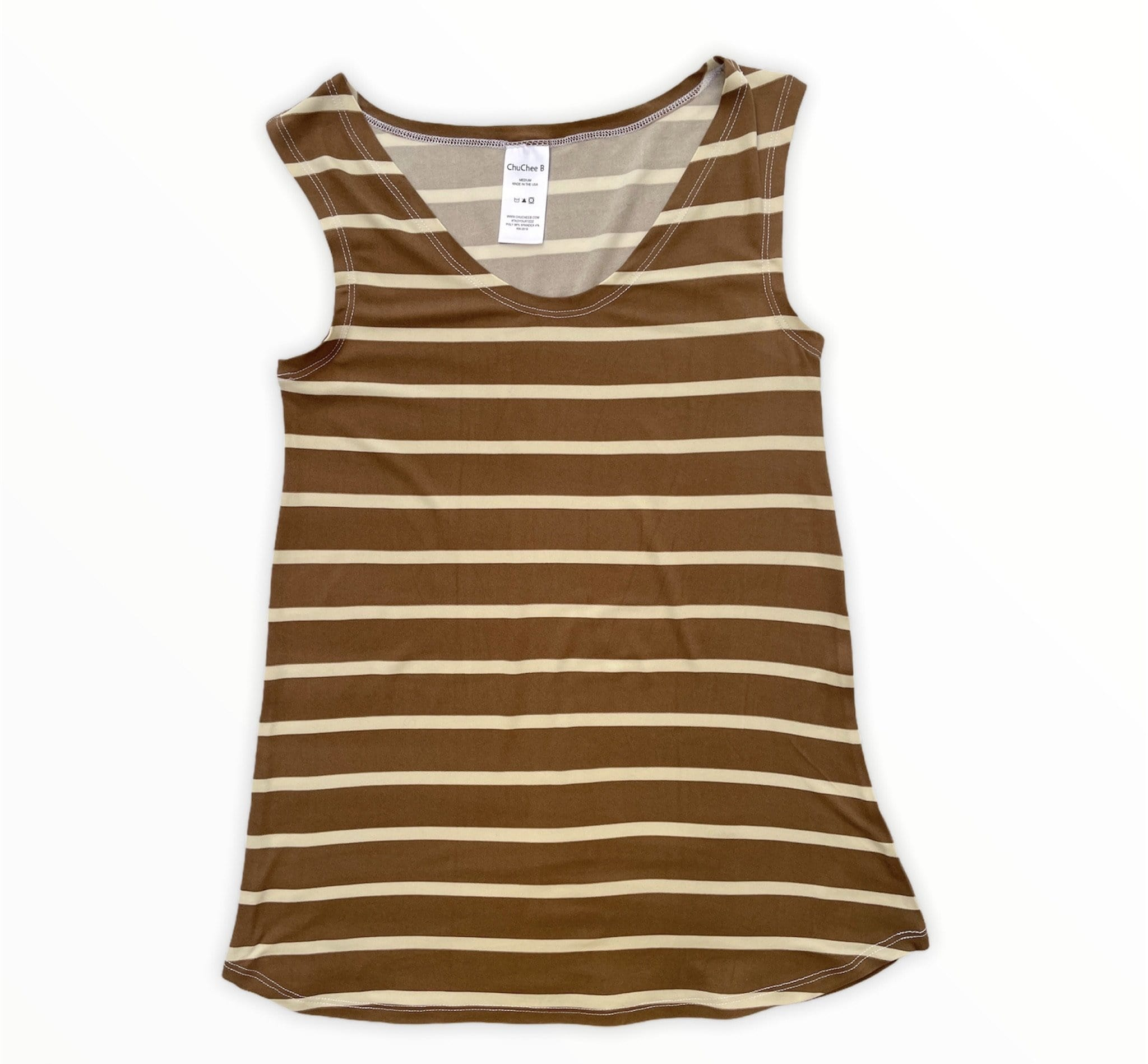 Mocha Stripes Tank Set