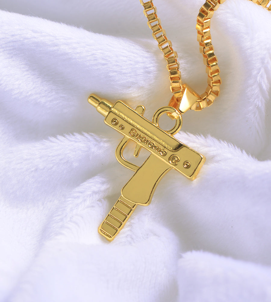 Gold Plated Uzi Chain