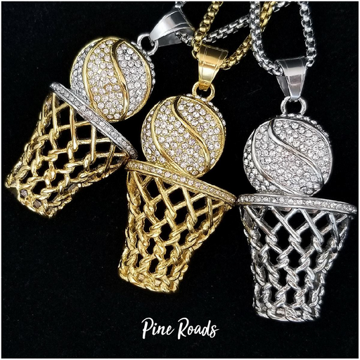 SHOOT FOR THE GLORY BASKETBALL NECKLACE