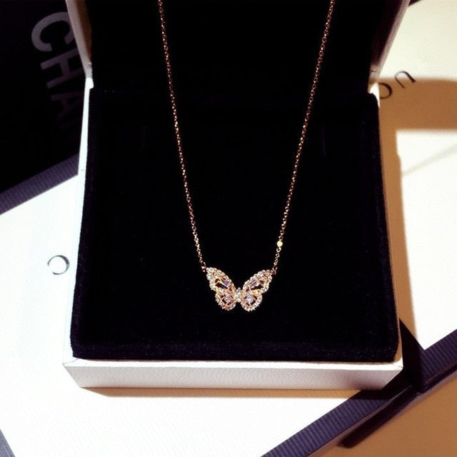 925 Sterling Silver Butterfly Pendant Necklace