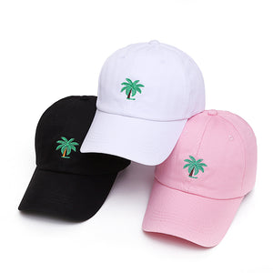 Palm Trees Embroidered Dad Hats