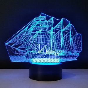 3D Ship Desk Lamp
