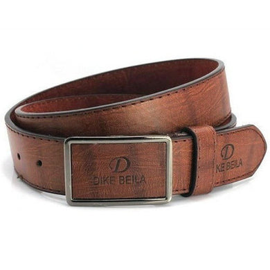 Mens Plain PU Leather Belt Snap-On Buckle Solid Strap Ceinture 4 Colors