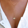 Gold Airplane Pendant