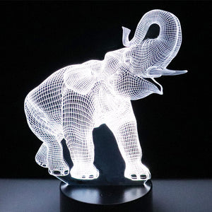 3D LED Elephant Lamp